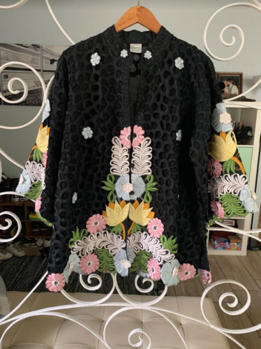 Vintage Flower Print Kimono Mini Jacket Dress