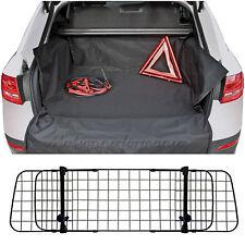 Heavy Duty Car Boot Liner Mat & Bumper Protector & Mesh Grill Dog Barrier Guard