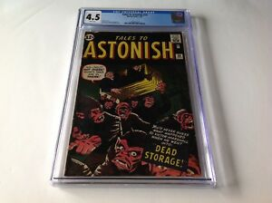TALES-TO-ASTONISH-33-CGC-4-5-WHITE-PAGES-DEAD-STORAGE-KIRBY-DITKO-MARVEL-COMICS