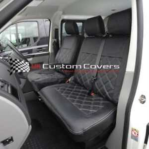 vw transporter t6 caravelle tailored leatherette seat covers 2015 on 209 ebay. Black Bedroom Furniture Sets. Home Design Ideas