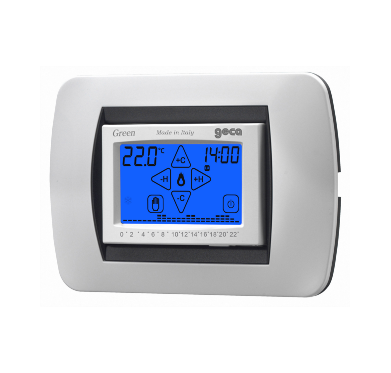 Geca 35282239 vert chronothermostat Dig. Recessed Touch Screen blanc