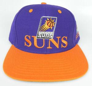 PHOENIX SUNS NBA VINTAGE SNAPBACK RETRO 2-TONE PURPLE ORANGE ADIDAS ... c2f9831420d