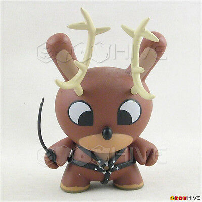 Kidrobot Dunny Naughty Reindeer with whip figure by Chuckboy Holiday Xmas loose