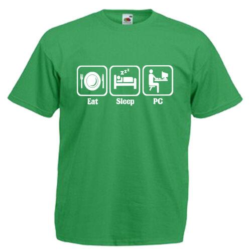 Technicien pc computer Adultes Homme T shirt 12 Couleurs Taille S 3XL