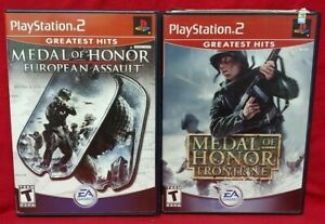 Medal of Honor European + Frontline  PS2 Playstation 2 Game Lot Tested Complete