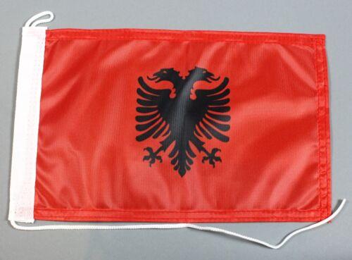 Bootsflagge Albanien 30x20 cm Motorradflagge