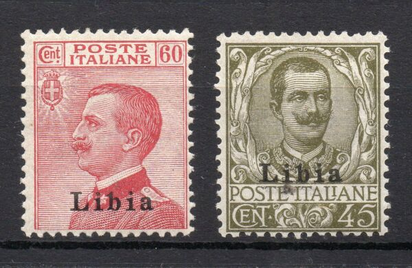 1917/18 Libia Serie Linguellata Mlh D/3383 Avec Des MéThodes Traditionnelles