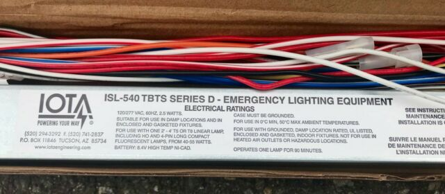 Emergency Lighting IOTA ISL-540 TBTS Series D