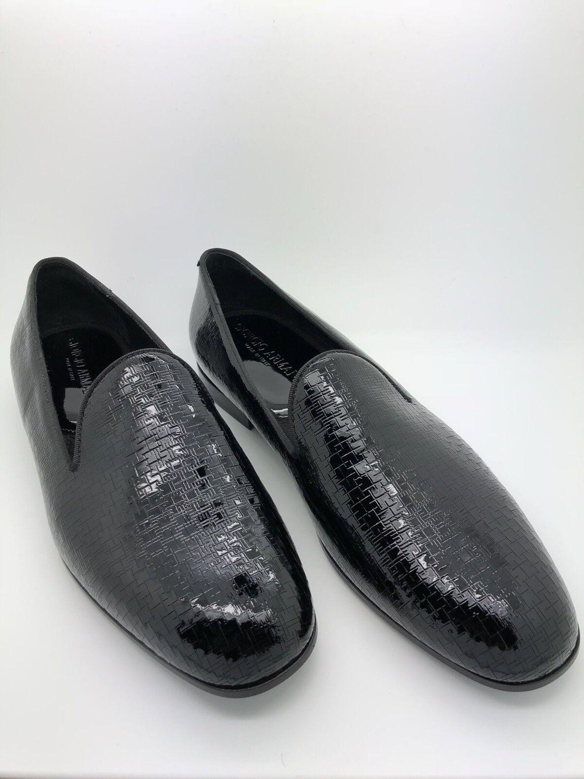 consegna rapida    795 Giorgio Armani Textured Patent Leather Slippers Dimensione 8.5  per offrirti un piacevole shopping online
