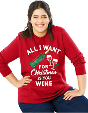 JMS Crewneck Ugly Sweatshirt - Unknown 2x All I Want for Christmas/best Red 28