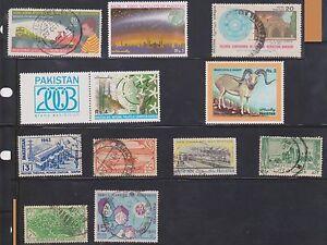 (U3-16) 1900-80 Pakistan mix of 11stamps 15P to 4R (C)