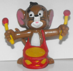 Jerry Mouse with Drum and Drum Sticks Plastic Figurine Tom and Jerry TJ001