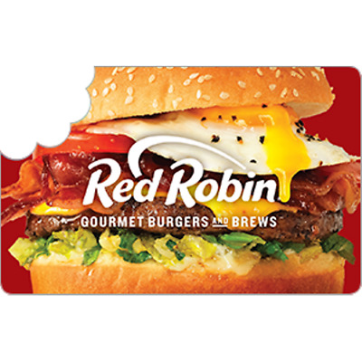 Red Robin $50 Gift Card for Only $45.50! Free Shipping, Pre-Owned Paper Card