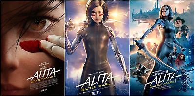 "Alita Battle Angel Movie Poster Rosa Salazar 2019 Art Print 14×21 27×40/"" 32×48/"""