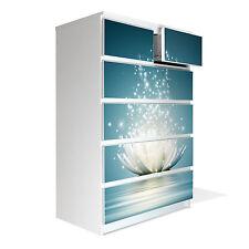 Dekorativer Möbel Aufkleber Sticker Kommode 80x123cm Ikea Malm Magische Lotusb