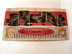 Katherine-039-s-Collection-Sewing-Miniatures-Collection-Set-6-Hinged-Ornaments