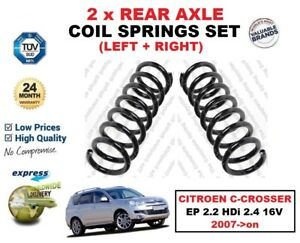FOR CITROEN C CROSSER EP 2.2 HDi 2.4 16V 2007->on 2X REAR AXLE COIL SPRINGS SET