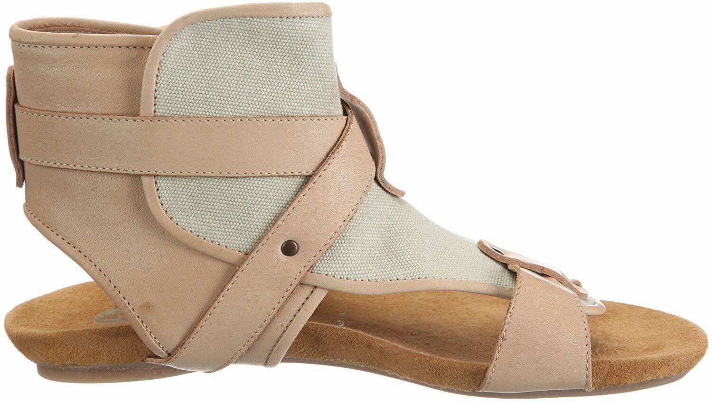 Yin sandales beige en cuir textile Ishan taille 39