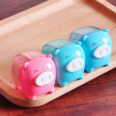 Cute Gift Cartoon Mini Pig Pencil Sharpener Mechanical for School Kids Gift