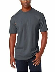 Dickie-039-s-Men-039-s-Short-Sleeve-Heavyweight-Crew-Neck-Pocket-Charcoal-Size-X-Large
