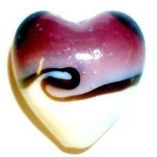 4 pcs Lampwork Heart Glass Beads - 20mm - A4003