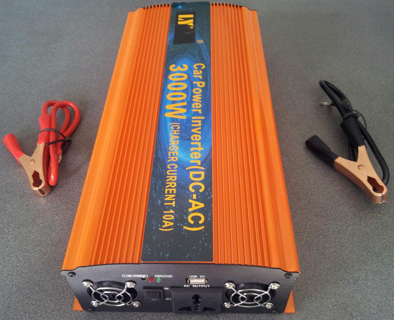 Converter inverter voiture 12v to 220v 3000w inverter dc-ac inverter