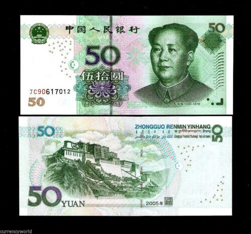 CHINA 50 YUAN P906 2005 1st Type POTALA PALACE TIBET MAO UNC MONEY BILL BANKNOTE