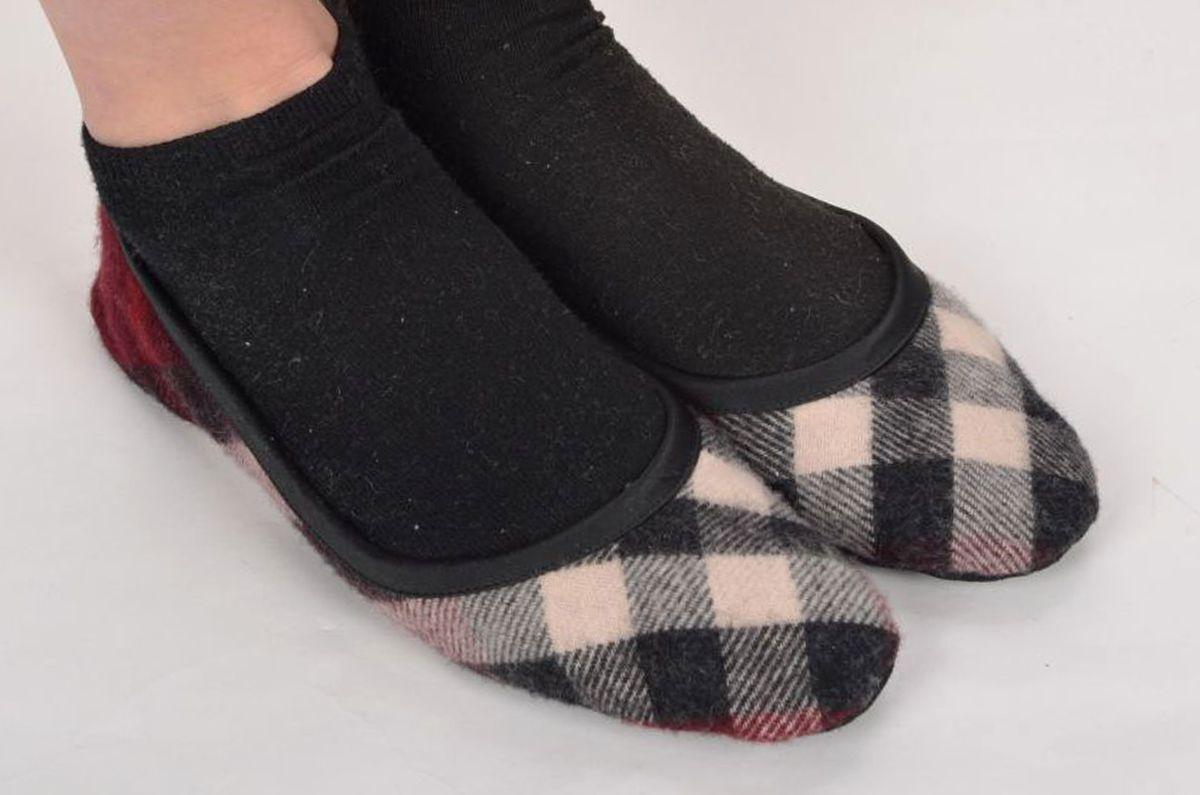 BURBERY Burgundy Nova Check kvinnor Ballet Flat skor skor skor Slippers EU 39   US 8.5  till grossist