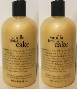 Image Is Loading 2x Philosophy Vanilla Birthday Cake Shampoo Shower Gel