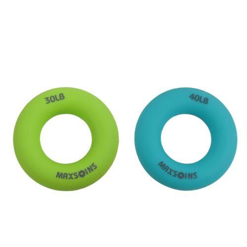 2 Stücke Silikon Handgelenk Handstärker Gripper Ring Finger Exerciser