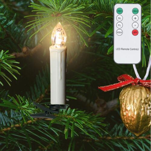 LED Weihnachtskerzen Kerzenlichter Weihnachtsbaum Baumkerzen Weinachten Lichter