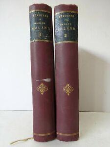 FERROUD-Memoires-de-Madame-Roland-Tomes-I-II-1905