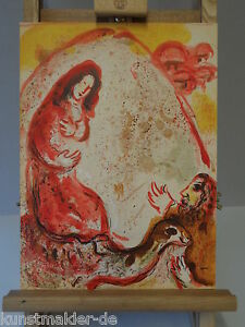 ORIGINAL-Marc-CHAGALL-Lithographie-242-Rahel-entwendet-die-Inkl-Expertise