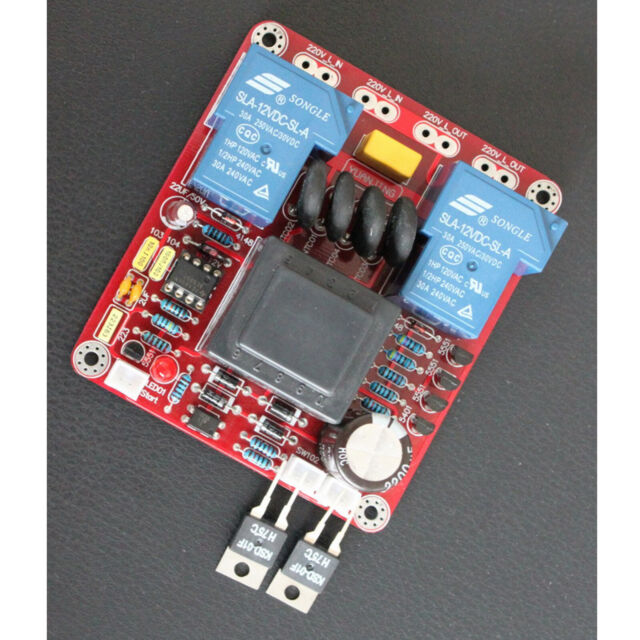 110V Class A Amplifier Power Delay Soft Start Temperature Protection Board