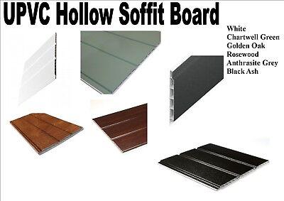 White PVC plastic hollow soffit board cladding 2.5 metre 10 metre lengths