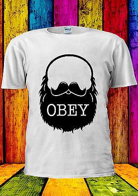 Obey The Beard Funny Moustache Swag T-shirt Vest Tank Top Men Women Unisex 2032