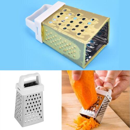 Hochwertige Mini 4 Seiten Edelstahl Handheld Reibe Hobel Küchenwerkzeuge H anMVD