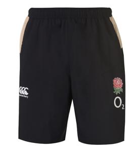 ENGLAND RUGBY Boys Black Canterbury VapoDri Woven Gym Shorts BNWT