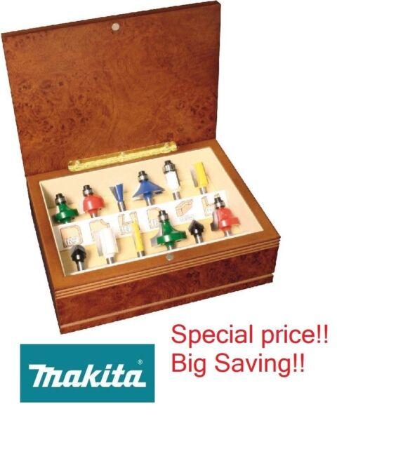 Multi-Colour Makita A-91051 Router Bit Set 12Pcs 1//4