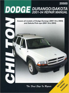 2001 2004 dodge durango dakota chilton repair service shop workshop rh ebay com 2004 dodge dakota factory service manual pdf 2004 dodge dakota factory service manual pdf