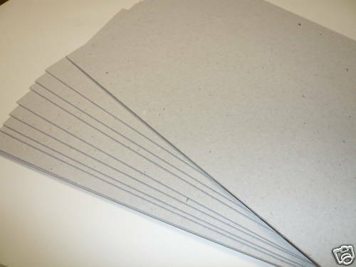 THICK GREY CRAFT CARD 200 x A4 GREY BOARDS 1.25mm 1250MIC