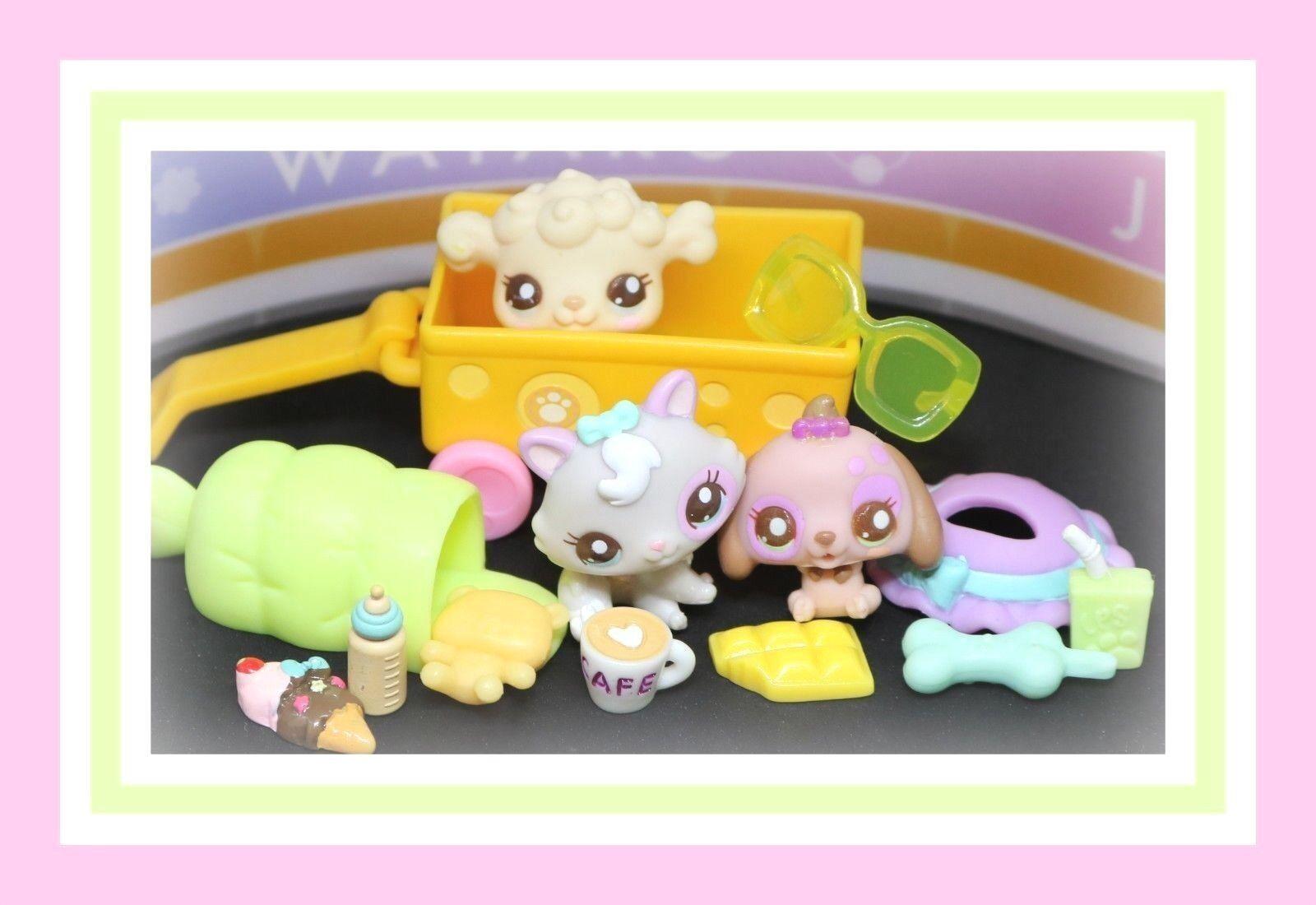 ️Littlest Pet Shop LPS Sunny Stroll Babies 2626 2627 2628 Dachshund Kitten ️