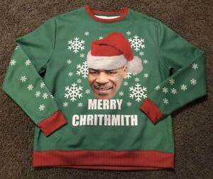 Mike Tyson Merry Christmas.Details About Mike Tyson Merry Christmas Long Sleeve Men S Xlarge Xl Chrithmith Sweatshirt