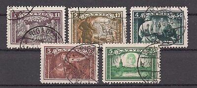 Lettland 1932 Selbstschutzorganisation 193-97a Gestempelt, 26074