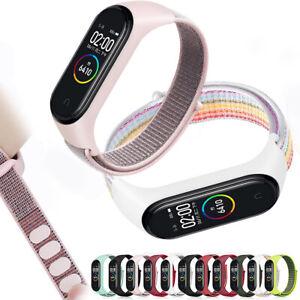 Farbig-Band-Strap-Nylon-Ersetzbar-Handgelenk-Case-For-Xiaomi-Mi-band-3-4-mode