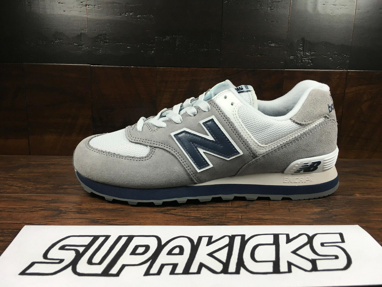 New Balance ML574ESD  Classic  (Grey Navy White) Suede 574 Mens 8-13