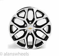 "4 Chevy Suburban Tahoe Black Machined Face Gold Bt 20"" Wheels Rims 5668"