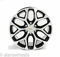 "4 Chevy Suburban Tahoe Black Machined Face Gold Bt 20"" Wheels Rims 5668"