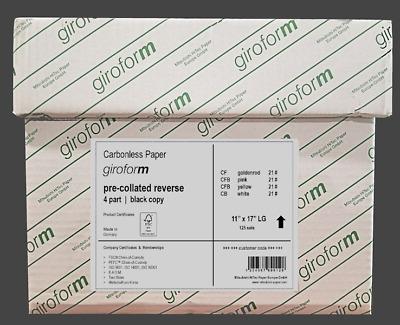 8.5 x 11-4 Part GiroForm DIGITAL Carbonless Paper Reverse 1250 Sets 5000 Sheets