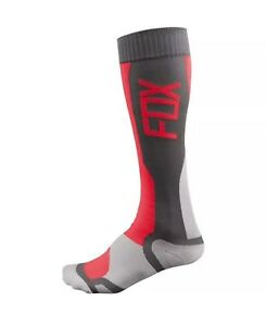 Grey/Red Sz S/M Fox Racing MX Tech Socks Motorcycle Socks